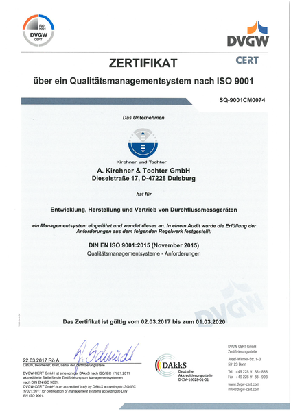 Surveillance audit DIN EN ISO 9001:2015 successfully passed